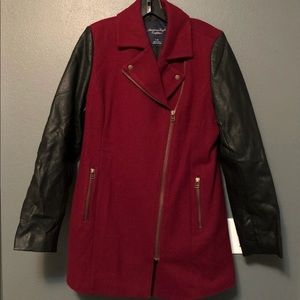 American Eagle Burgundy Coat